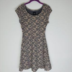 ANTHROPOLOGIE DELETTA BRUSHED TERRA EYELET DRESS